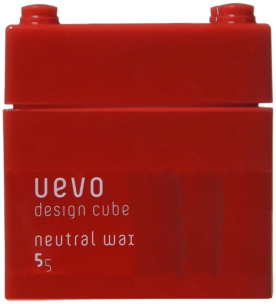 対角線文房具かすかなデミ?ウェーボ デザインキューブ ニュートラルワックス 80g(並行輸入品)