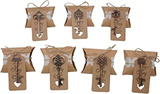 Wedding Favors for Guests 70 Pack Mixed Large Skeleton Key Bottle Openers (Copper) with Tag and Pillow Candy Box and Twine Vintage Bridal Shower Favors Bottle Openers (70 pack copper)