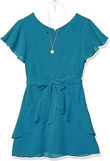 فستان بناتي بأكمام مرفرفة مع تنورة مكشكشة فستان للمناسبات الخاصة من Amy Byer