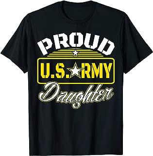 Proud U.S-Army-Daughter T-Shirt Veteran Gift