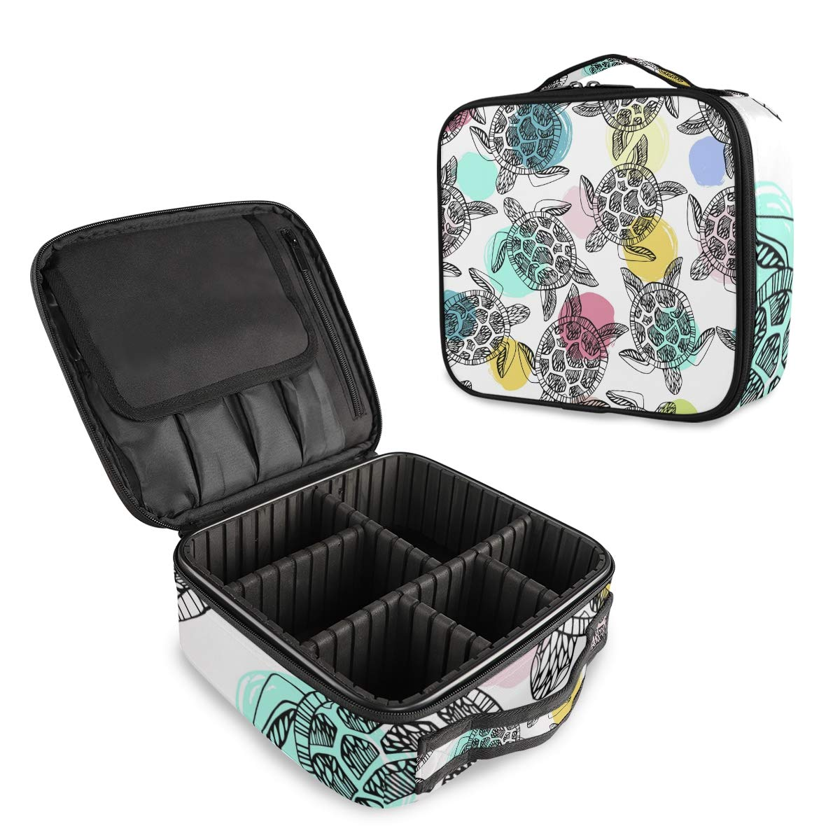 Travel Makeup Bag Portable Organizer Colorful Ma Mail Save money order cheap Dot Turtle Cute