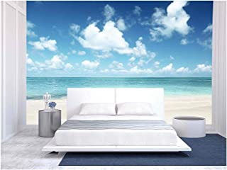 wall26 - Sand of Beach Caribbean Sea - Removable Wall Mural | Self-Adhesive Large Wallpaper - 66x96 inches