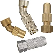 POPETPOP 4pcs Brass Atomizing Nozzle Stainless Steel High Pressure Spray Misting Nozzle Water Hose Sprayer Replacement For...