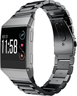 Fitbit Ionic Band, Shangpule Stainless Steel Metal Replacement Bracelet Strap with Folding Clasp for Fitbit Ionic Smart Wa...