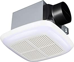 Tech Drive Very-Quiet 80 CFM, 1.5 Sone No Attic access Needed Installation Bathroom Ventilation and Exhaust Fan With LED l...