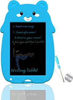 VNVDFLM Color Bear Electronic Drawing Board for Kids with One-Button Erase, Toys for 5-10 Year Old Boys and Girls,8.5 Inch LCD Doodle Board with Cute Style Holiday Gifts for Kids(Blue-XX)