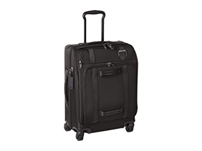 Tumi Merge Continental Front Lid 4 Wheel Carry-On (Black) Wallet