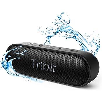 Tribit XSound Go Bluetooth スピーカー IPX7完全防水 ポータブルスピーカー 24時間連続再生 Bluetooth5.0 ブルートゥーススピーカー TWS対応 低音強化/内蔵マイク搭載 ブラック 最新版