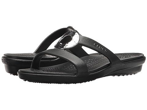 631a6bdbc369 Crocs Sanrah Hammered Metallic Sandal at 6pm