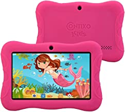 """Contixo 7"""" inch 6.0 Android Kids Tablet   Parental Control with Preloaded Children Learning Toddler Educational Apps & Games + Kid Proof Case-2019 Edition K3 (Pink)"""