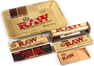 RAW Rolling TRAY KIT or SET King Size + TRAY + HYDROSTONE + ROLLER + PAPER TIPS
