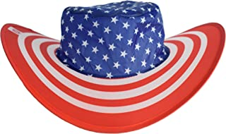 BEEN THERE BRAND American Pride Flag Twist-and-Fold Hat & Carry Pouch| Travel, Event, Concert & USA Parade Colorful Sun Hat Great Gift Idea