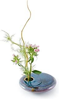Georgetown Pottery Round Ikebana Flower Vase, Dark Purple Zen