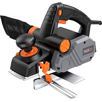 """Planer, TACKLIFE Power Hand Planer, 7.5-Amp, 14500Rpm 3-1/4-Inch, with 1/96"""" to 1/8"""" Adjustable Cut Depth, 2-Side Blow Chips, Parallel Fence Bracket, Ideal Wood Planer for Home DIY - EPN02A"""