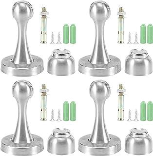 RosieLily 4 Pack Magnetic Deur Stop - Roestvrijstalen Deurstopper Magnetische Deurvanger, 3m Dubbelzijdig Plakband Niet Te...
