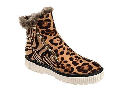 Journee Collection Comfort Foam Jezzy Wedge Bootie (Leopard) Women