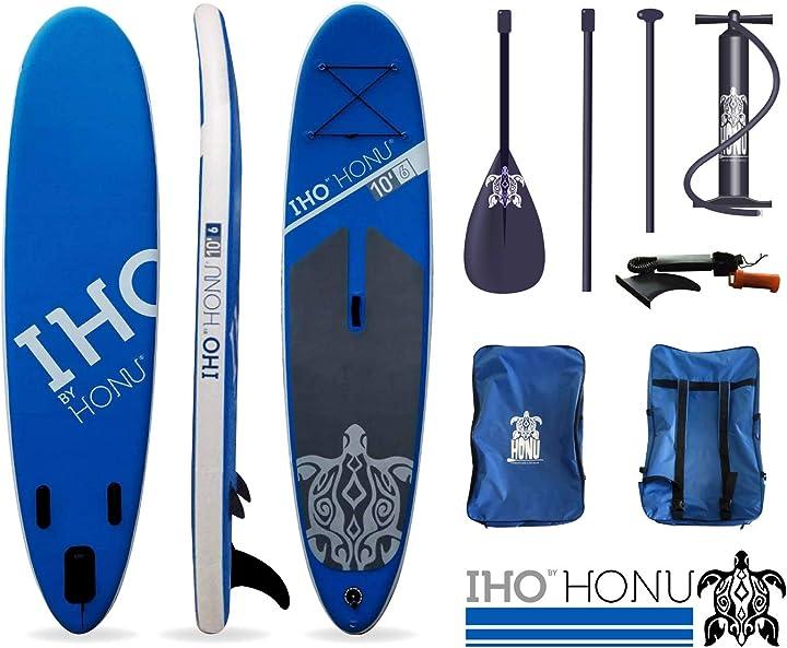 Tavola da surf honu stan up paddle gonfiabile 10`6 – isup – sup B07M9S1GR8