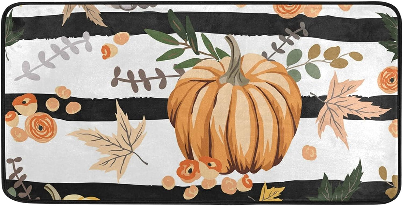 Autumn Orange Pumpkins Choice Brand new Thanksgiving Day Kitchen Mat Rug 39 Floor