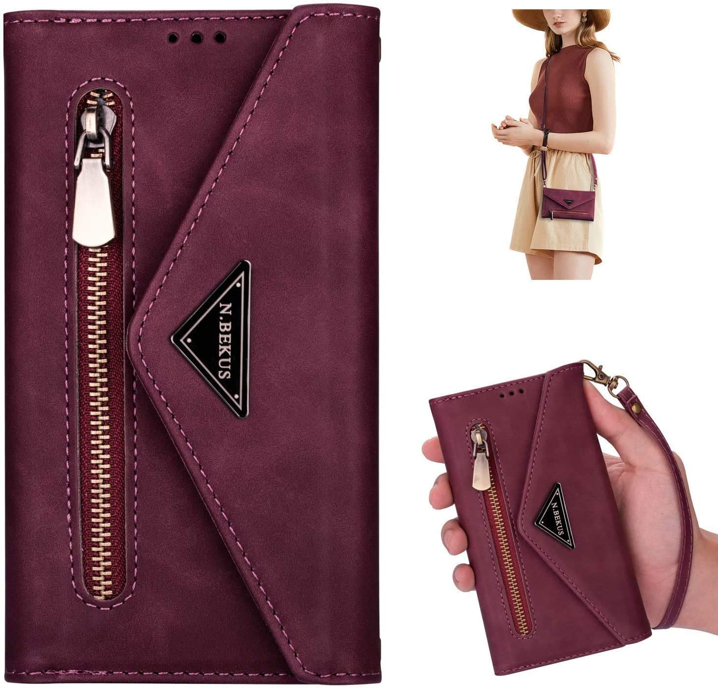 PHEZEN Crossbody Phone Case for Animer Import and price revision A71 w Wallet Samsung Galaxy