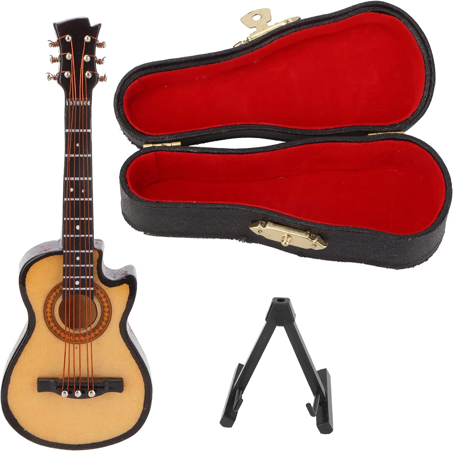 2021new shipping free shipping Electric Guitar Music Instrument Japan Maker New Miniature Minia Wooden Replica