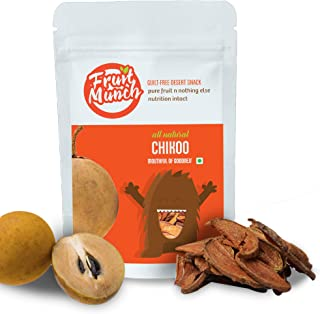 FruitMunch Dried Chikoo - 20gms (No preservatives, No Added Sugar, Vegan, Gluten Free) 100 % Natural dehydrated Fruit Slice