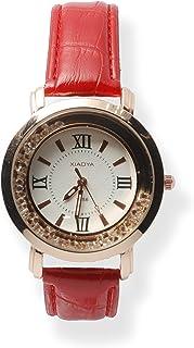 Xiaoya Reloj de Pulsera para Mujer con Piedras en el Dial Analógico