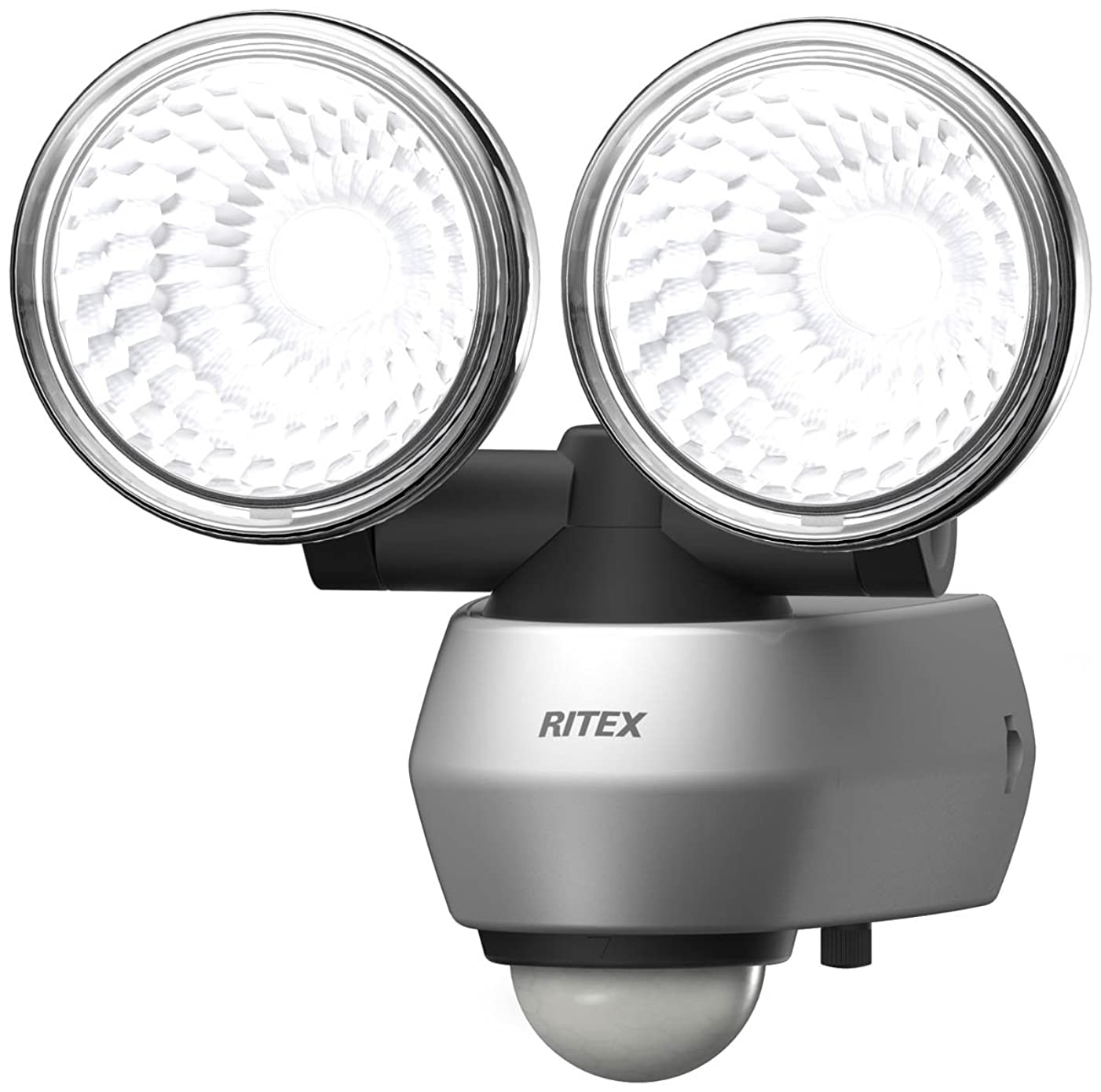 空気ブレーキパーフェルビッドムサシ RITEX 10W×2 LEDセンサーライト(2灯式) 「コンセント式」 LED-AC2020