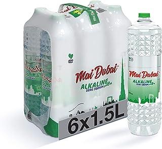 Mai Dubai Bottled Water Alkaline Zero Sodium, 6 x 1.5 L