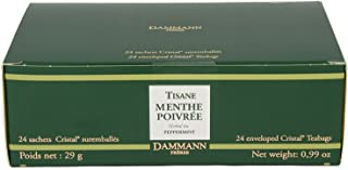 DAMMANN FRERES Menthe Poivree Tea, 24 Cristal Teabags