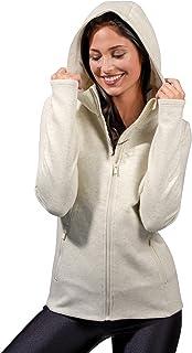 سترة بغطاء للراس للنساء طويلة الأكمام بجيب امامي مطبوع عليه عبارة «هالويين» بتصميم سترة صوفية مزود بغطاء للراس وجيوب