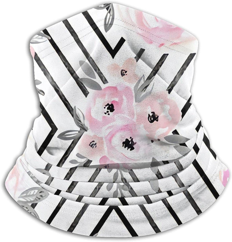 Blush Roses Mod Bandanas Neck Gaiter Face Mask Scarf Face Shield