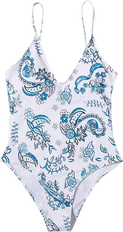 Gwewei4df Womens Summer Sexy One Award-winning store Piece Bikini K Tie Cross Free Shipping New Floral