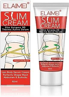 Slimming Cream,Slim Extreme 3D Liposuction Body Serum, Professional Anti-Cellulite Cream Perfectly Shape Waist,Abdomen and Buttocks(60ml)
