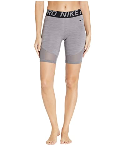 Nike Pro Shorts 8 (Gunsmoke/Heather/Gunsmoke/Black) Women