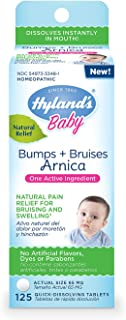 Hyland's Baby Bumps + Bruises Arnica, Natural Pain Relief for Bruising and Swelling, 125 Tablets