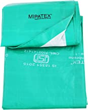 Mipatex Tarpaulin Sheet Waterproof Heavy Duty 21ft x 18ft, Poly Tarp with Aluminium Eyelets Every 3 feet - Multipurpose 150 GSM Plastic Cover for Truck, Roof, Rain, Outdoor or Sun (Green/White)