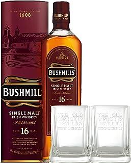 Bushmills 16 Jahre Single Malt Irish Whiskey  2 Gläser 0,7 L