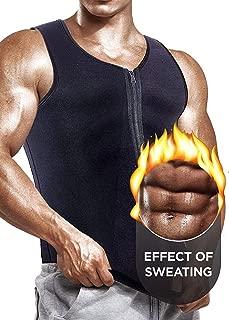 Self Pro [Newest Effective Mens Waist Trainer Vest for Weightloss Hot Neoprene Corset Body Shaper Zipper Sauna