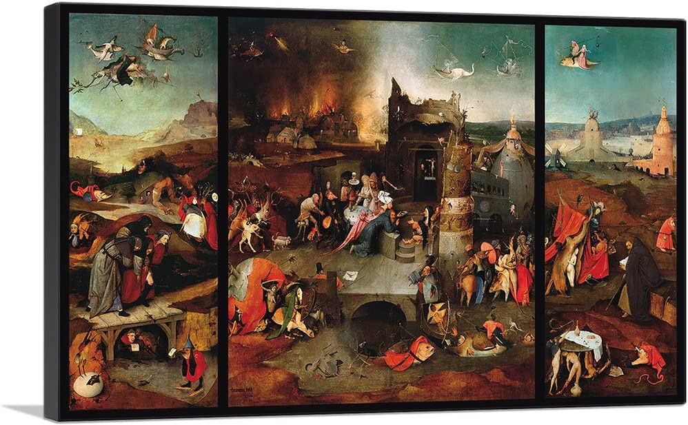 ARTCANVAS The Temptation of St. Anthony 1516 Canvas Art Print by Hieronymus Bosch - 26