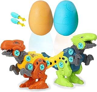 Take Apart Dinosaur Egg Toys for Boys & Girls, Easter Dino Egg with Drill STEM Dinosaur Toys Gift Learning Building Toys f...
