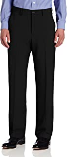 Men's Big and Tall Flat-Front Crosshatch Pant