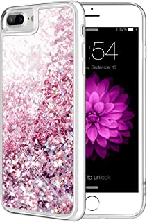 Caka iPhone 7 Plus Case, iPhone 7 Plus Glitter Case Flowing Luxury Bling Glitter Sparkle Liquid Floating Soft TPU Case for iPhone 7 Plus 8 Plus (5.5 inch) (Rose Gold)