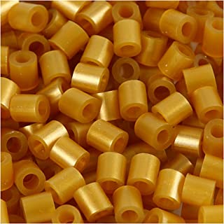 Nabbi Fuse Beads, size 5x5 mm, hole size 2,5 mm, gold, medium, 6000pcs