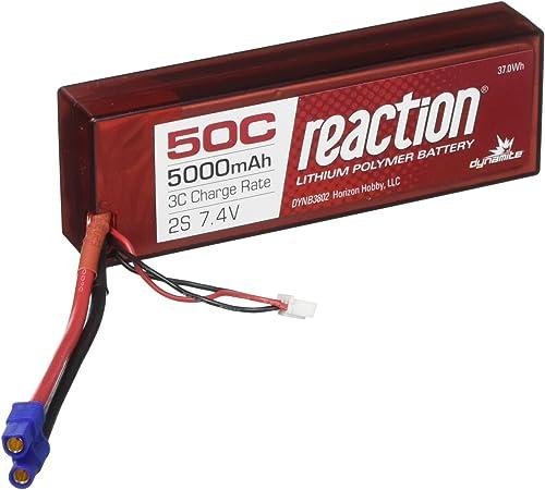 Dynamit 5000mAh Reaction 7,4 v 2S 50C li-po, eC3 Rigide