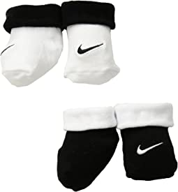 Nike Kids Simple Swish Bootie 2-Pair Pack (Infant)