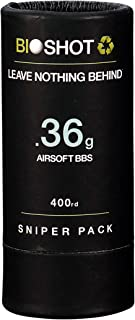 BioShot .36g 400 Round Sniper Pack Competition Match Grade Biodegradable 6mm Airsoft BBS for All Airsoft Guns