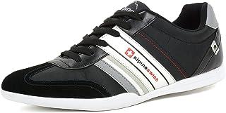 Mens Ivan Suede Trim Retro Tennis Shoes