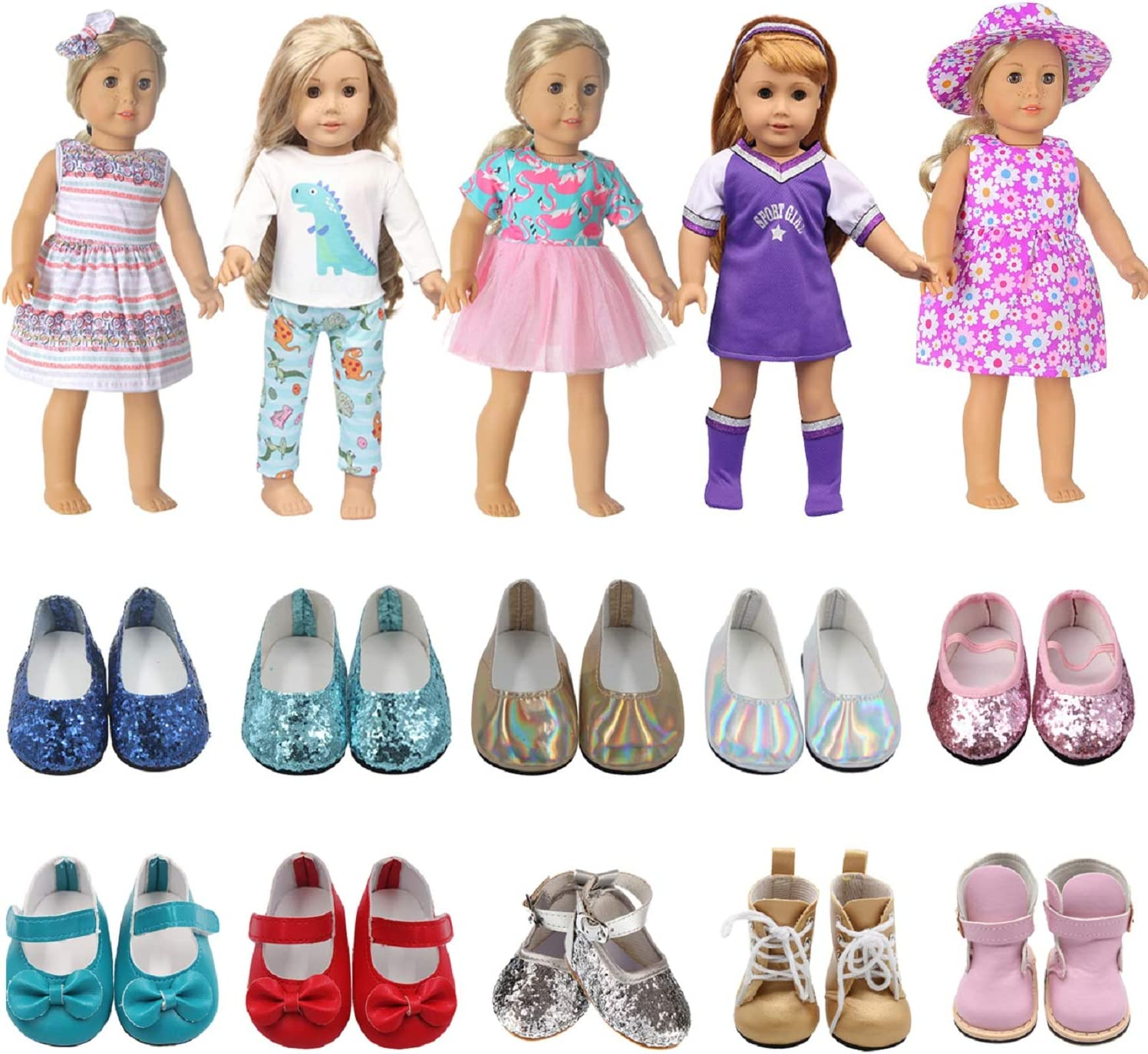 ReeRaa American 18 inch Doll Clothes Everyday Set Recommendation 5 = A surprise price is realized 7