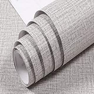 LZYMLG PVC Wallpapers Kitchen Waterproof Self Adhesive Wallpapers Rolls Simple Linen Wall Papers Home Decor Bedroom Living Room Walls 007 60cmX10m