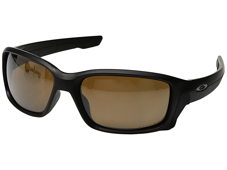 Oakley Straightlink (Matte Black w/ Prizm Tungsten Polarized) Fashion Sunglasses